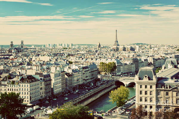 Wall Art - Photograph - Paris Panorama, France. View On Eiffel by Photocreo Michal Bednarek