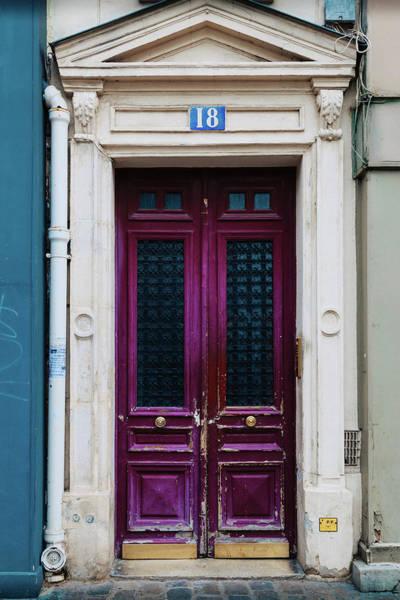 Photograph - Paris Pink Door by Georgia Fowler
