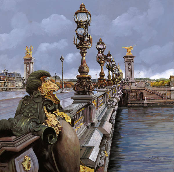 Vacations Wall Art - Painting - Paris-pont Alexandre Terzo by Guido Borelli