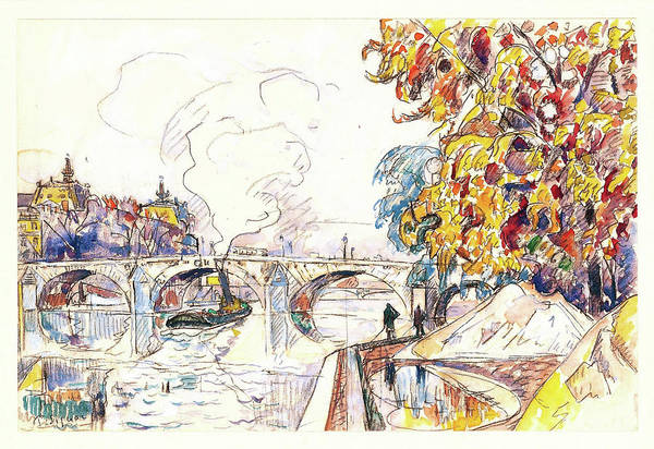 Neo-impressionism Wall Art - Painting - Paris, Pont Royal And The Gare D'orsay - Digital Remastered Edition by Paul Signac