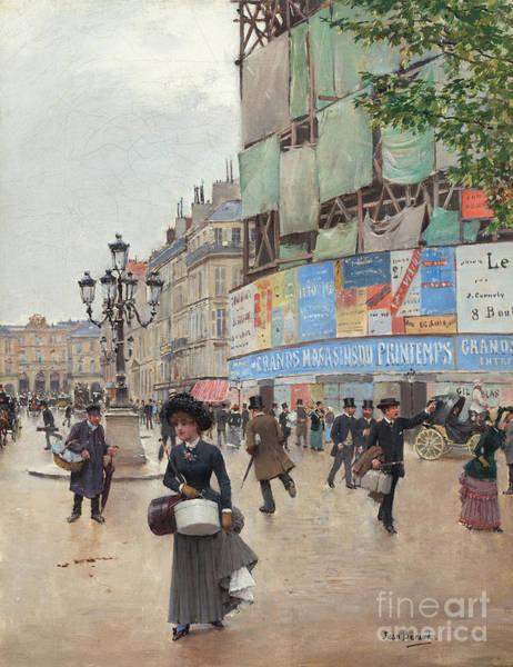 Wall Art - Painting - Paris, Rue Du Havre Circa 1882 by Jean Beraud