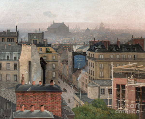 Wall Art - Painting - Paris Seen From Montmartre, 1887  by Antonin Chittussi