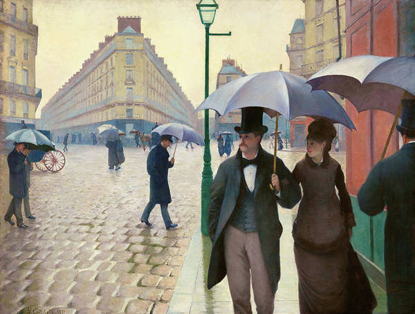 Wall Art - Painting - Paris Street In Rainy Weather - Digital Remastered Edition by Gustave Caillebotte