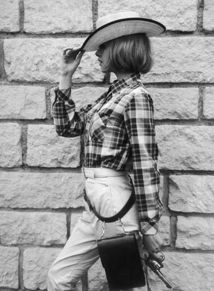 France Photograph - Paris. Summer Fashion. Cowboy Set by Keystone-france