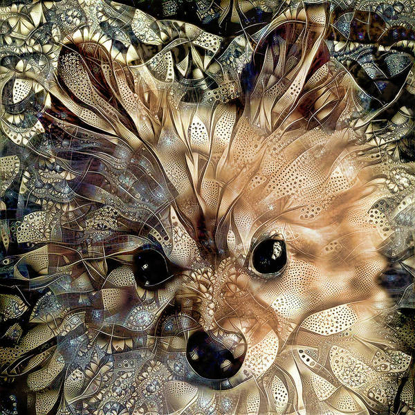 Digital Art - Paris The Pomeranian Dog by Peggy Collins