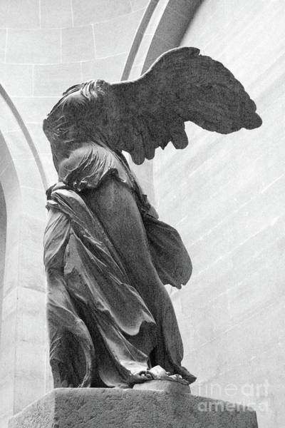 Wall Art - Photograph - Paris Winged Victory Of Samothrace - Samothrace Angel Of Victory Angel - Louvre Museum Angel Wings  by Kathy Fornal