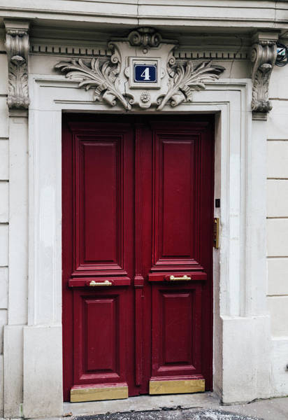 Photograph - Parisian Red Door  by Georgia Fowler