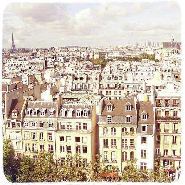 Paris Rooftop Photograph - Parisian Rooftop View by By Smaranda Madalina Cheregi