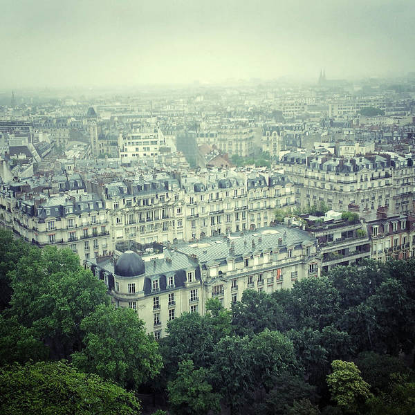 Paris Rooftop Photograph - Parisian Rooftops by Louise Legresley