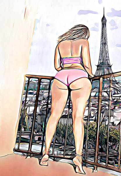 Booty Drawing - Parisian View by Abstrait