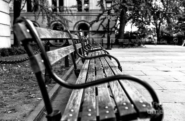 Photograph - Park Bench View In New York City by John Rizzuto
