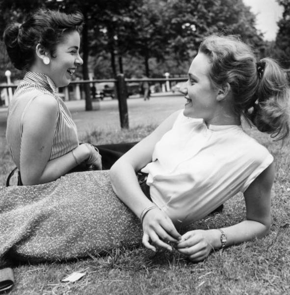 Laughing Photograph - Park Laugh by Bert Hardy