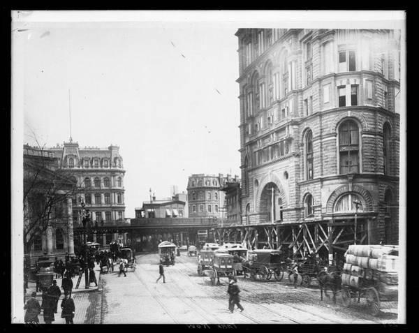 1889 Photograph - Park Row by The New York Historical Society