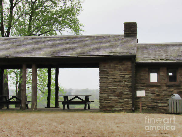 Photograph - Park Shelter On A Gray Day by Roberta Byram