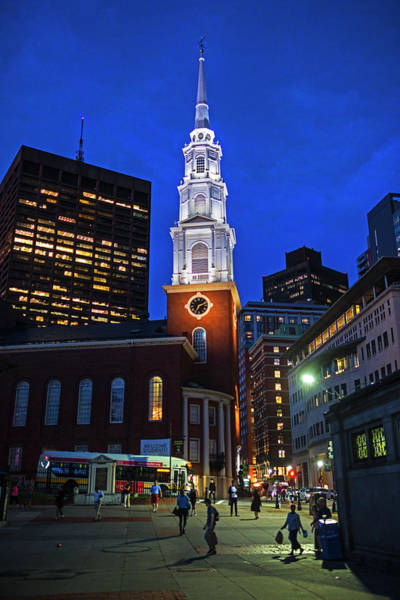 Photograph - Park Street Church Boston Common Boston Ma by Toby McGuire