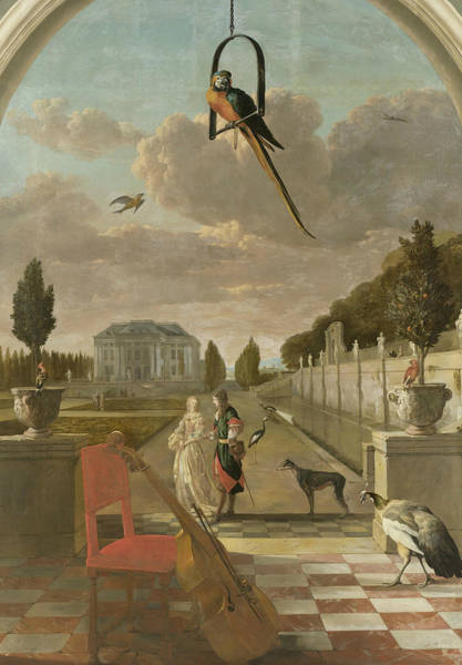 Painting - Park With Country House by Jan Weenix