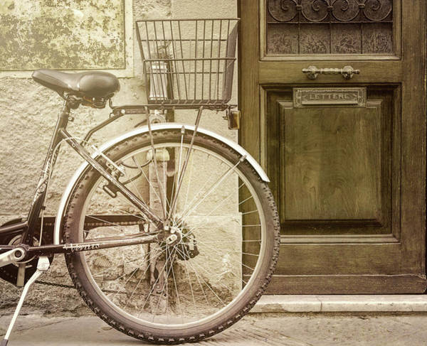 Photograph - Parked Bike Lucca Italy by Joan Carroll