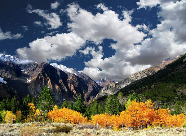 Sierra Nevada Mountain Range Photograph - Parker Canyon Fall Colors Californias by Bill Wight Ca