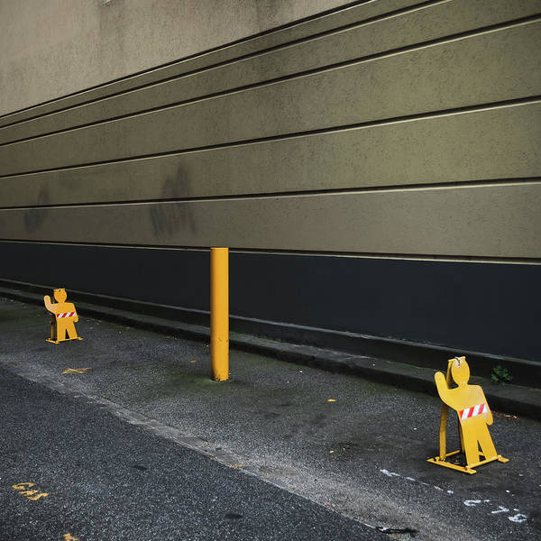 Parking Structure Photograph - Parking Guards Humanoid by John Abbate