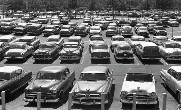 Parking Photograph - Parking Lot Full Of Cars by George Marks