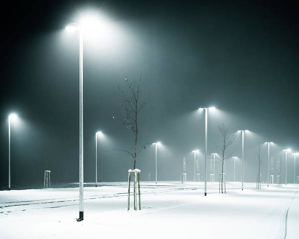 Parking Photograph - Parking Lot by Photography By Andreas Strauch