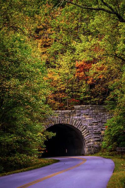 Photograph - Parkway Tunnel O Blue Ridge Parkway In Autumn  by Alex Grichenko