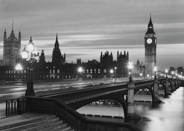 Parliament By Night Art Print by Peter King