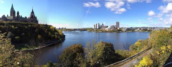 Wall Art - Photograph - Parliament Hill And Ottawa River Pano by Danielle Donders