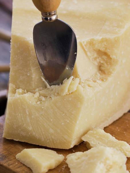 Delicatessen Photograph - Parmesan Cheese With Spoon by Lindeblad, Matilda