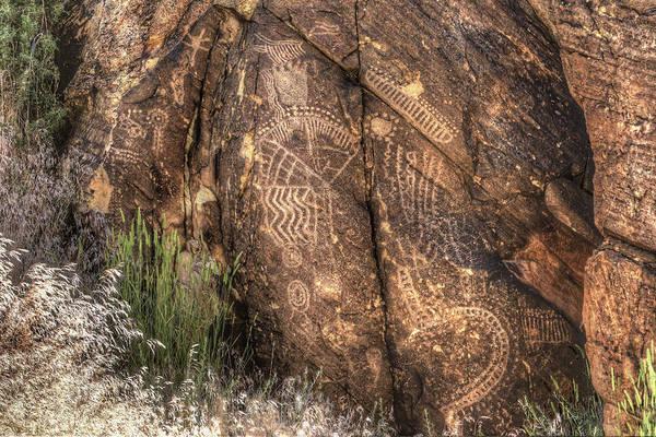 Photograph - Parowan Gap Petroglyphs 2 by Donna Kennedy