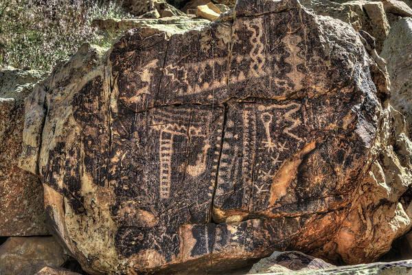 Photograph - Parowan Gap Petroglyphs 3 by Donna Kennedy