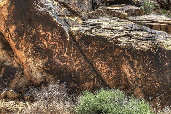 Photograph - Parowan Gap Petroglyphs 4 by Donna Kennedy