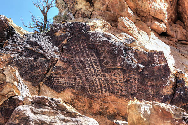 Photograph - Parowan Gap Petroglyphs 5 by Donna Kennedy