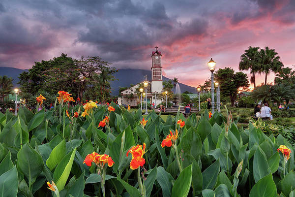 Photograph - Parroquia San Juan Bosco In La Fortuna Park by Darylann Leonard Photography