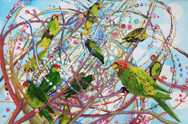 Painting - Parrot Bramble by Tilly Strauss