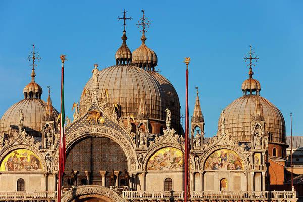 St Mark's Basilica Photograph - Part Of Basilica San Marco In Venice by Danita Delimont
