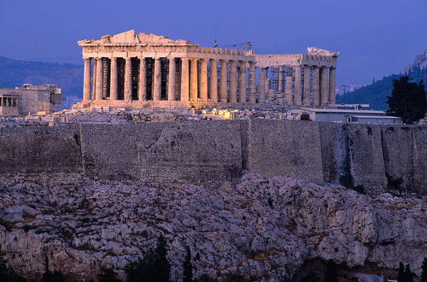 Ancient Greek Photograph - Parthenon And Acropolis From Filopappou by Lonely Planet