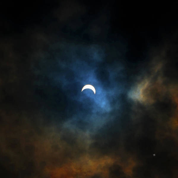 Photograph - Partial Eclipse by Tom Romeo