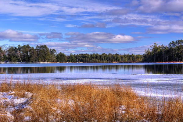 Photograph - Partly Cloudy Skies Over North Nokomis Lake by Dale Kauzlaric