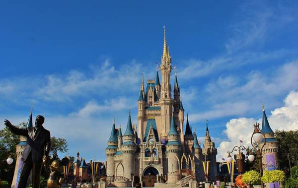 Wall Art - Photograph - Partners And Cinderella Castle by Francois Gendron