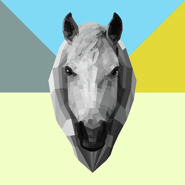 Wall Art - Digital Art - Party Horse by Naxart Studio