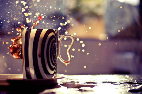 Mug Photograph - Party In Coffee Mug by Daniela Romanesi