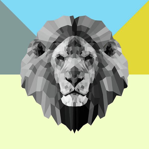 Wall Art - Digital Art - Party Lion by Naxart Studio