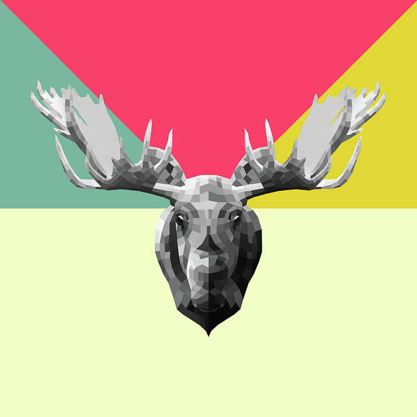Wall Art - Digital Art - Party Moose by Naxart Studio