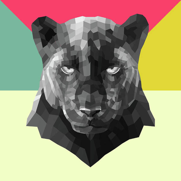 Bobcat Wall Art - Digital Art - Party Panther by Naxart Studio
