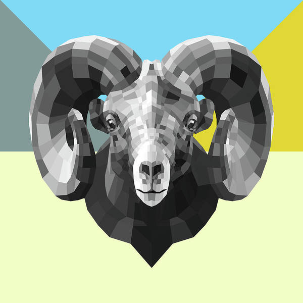 Bobcat Wall Art - Digital Art - Party Ram by Naxart Studio