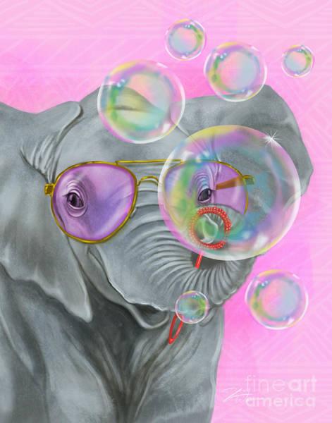 Mixed Media - Party Safari Elephant by Shari Warren