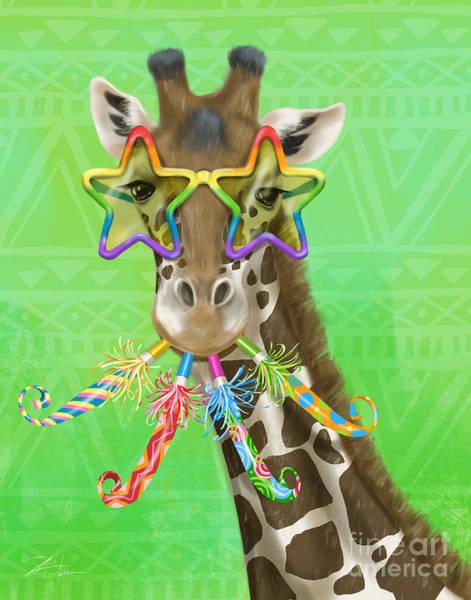 Mixed Media - Party Safari Giraffe by Shari Warren
