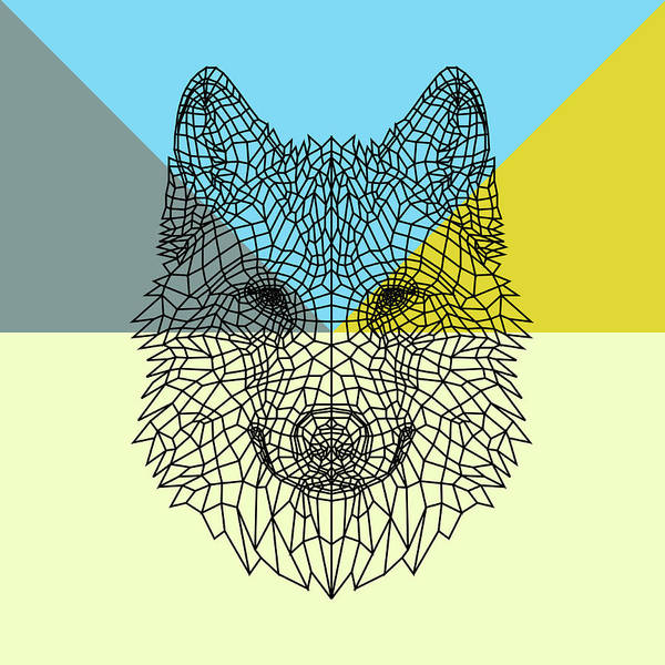 Bobcat Wall Art - Digital Art - Party Wolf by Naxart Studio