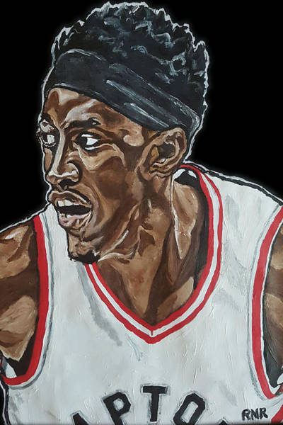 Painting - Pascal Siakam by Rachel Natalie Rawlins